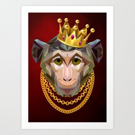 The King of Monkeys Art Print