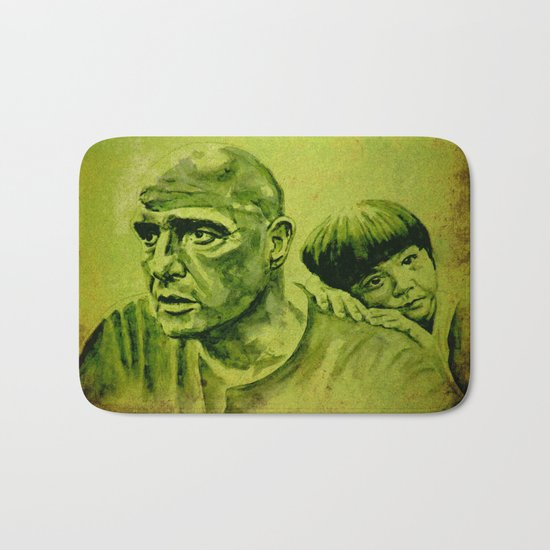 Marlon Brando and the girl Bath Mat