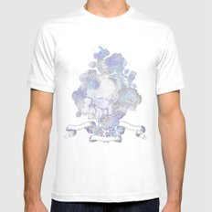 Skull & Roses White SMALL Mens Fitted Tee