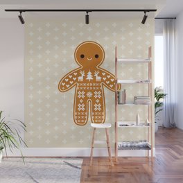 SWEATER PATTERN GINGERBREAD COOKIE Wall Mural