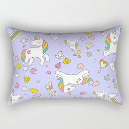 Unicorn Lilac Pattern Rectangular Pillow