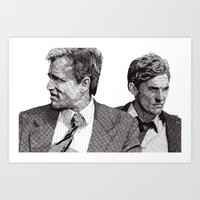 true detective Art Prints featuring True Detective by Rik Reimert