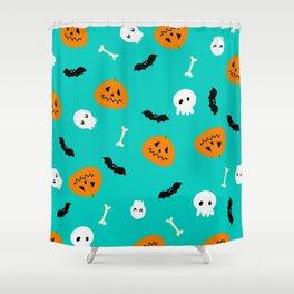 halloween pumpkins Shower Curtain