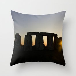 Stonehenge at Sunset Throw Pillow