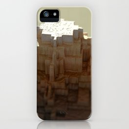 Temple mayan structure macro material structure building city landscape background iPhone Case