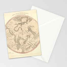 The Southern Constellations for Each Month of the Year (1856) Stationery Cards