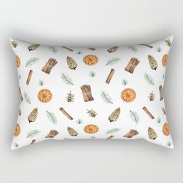 Christmas pattern with citrus and cinnamon Rectangular Pillow