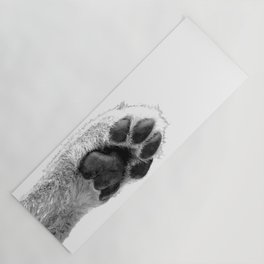 Black and White Dog Paw Yoga Mat