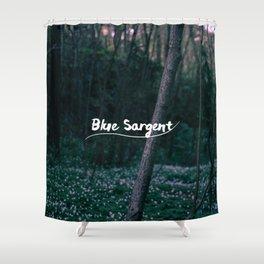 Blue Sargent Shower Curtain