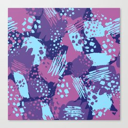 Modern brush blots Canvas Print