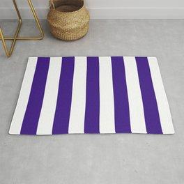 Pixie Powder violet - solid color - white vertical lines pattern Rug