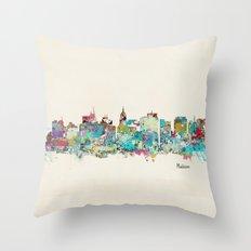 Madison Wisconsin skyline Throw Pillow
