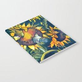 Sunflowers and birds Notebook