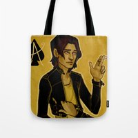 cargline Tote Bags featuring Ace of Spades by cargline