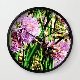 Scallion Flower Bumble Bee Wall Clock