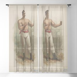 John L. Sullivan Champion Pugilist (1883) Sheer Curtain