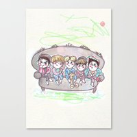 shinee Canvas Prints featuring Dream SHINee by sophillustration