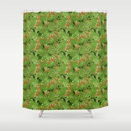 Christmas tidings Shower Curtain
