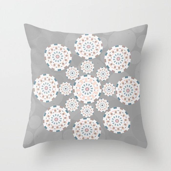 Circles life gray star Throw Pillow