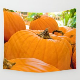 Pumpkin Patch Landscape Wall Tapestry