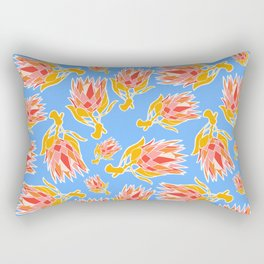 Australian Native Floral Pattern - King Protea Rectangular Pillow