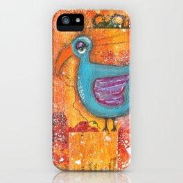Sleepy Eyed Bird #1 iPhone Case