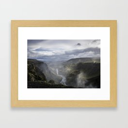 View from Haifoss (2) - Iceland Framed Art Print