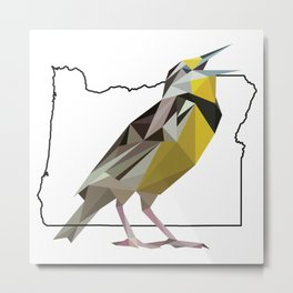 Oregon – Western Meadowlark Metal Print