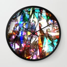 Light Streaming Through Stained Glass Wall Clock