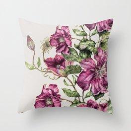 Purple Flowers 3 Throw Pillow