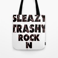 rock n roll Tote Bags featuring Rock N Roll by Jake Hellrose