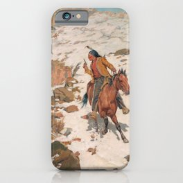 In Hot Pursuit - Charles Schreyvogel iPhone Case