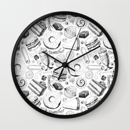 Delicious pattern Wall Clock