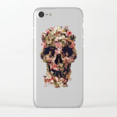 Jungle Skull Clear iPhone Case