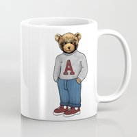 teddy bear Mugs featuring teddy bear by ulas okuyucu
