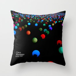 lights - Circo Massimo - Notte Bianca Throw Pillow
