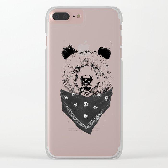 Wild bear Clear iPhone Case