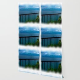 view of the infinite blue sea oil painting Wallpaper