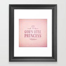 God's Little Princess Framed Art Print
