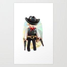 Playmobil Sheriff Art Print