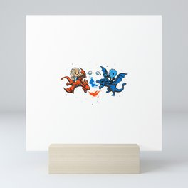 Snowball Fight at the End of the World Mini Art Print