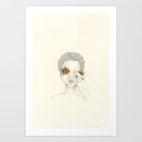 Give Me Your Eyes Art Print