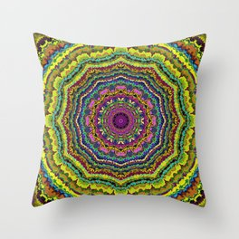 Rock the Casbah-Mandala-1 Throw Pillow