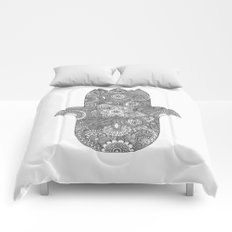Hamsa - B&W Comforters