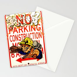 Topaz x Jerms 'Putting In Work' Construction Sign Print Stationery Cards