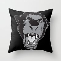 panther Throw Pillows featuring Panther by Taranta Babu