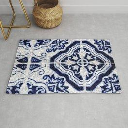 Azulejo VI - Portuguese hand painted tiles Rug