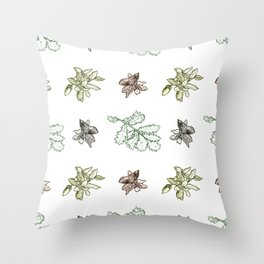 Quercus (greens) Throw Pillow