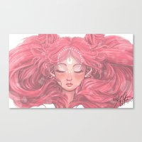 chibi Canvas Prints featuring Chibi  by Kat Martin