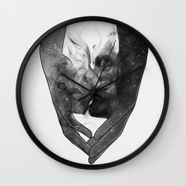 The kissing touch. Wall Clock